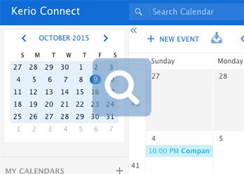 Kerio Cloud Email Calendar