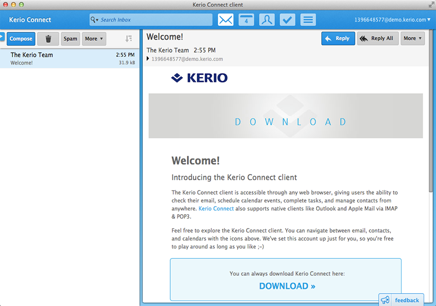 Kerio Connect Enterprise Class Email Built For Your Business